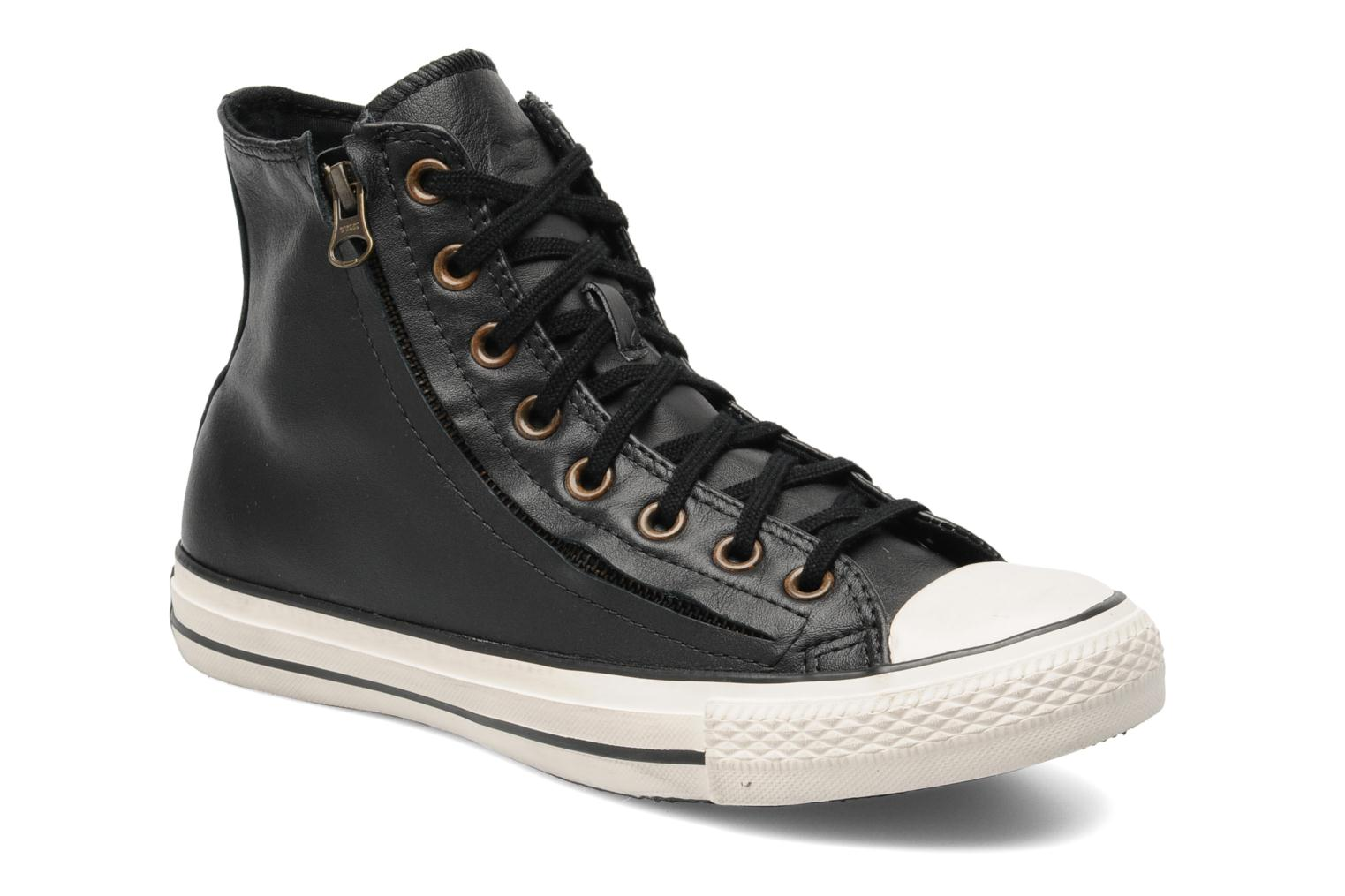 Baskets Converse Chuck Taylor All Star Rc Leather Double Zip Hi M Noir vue détail/paire
