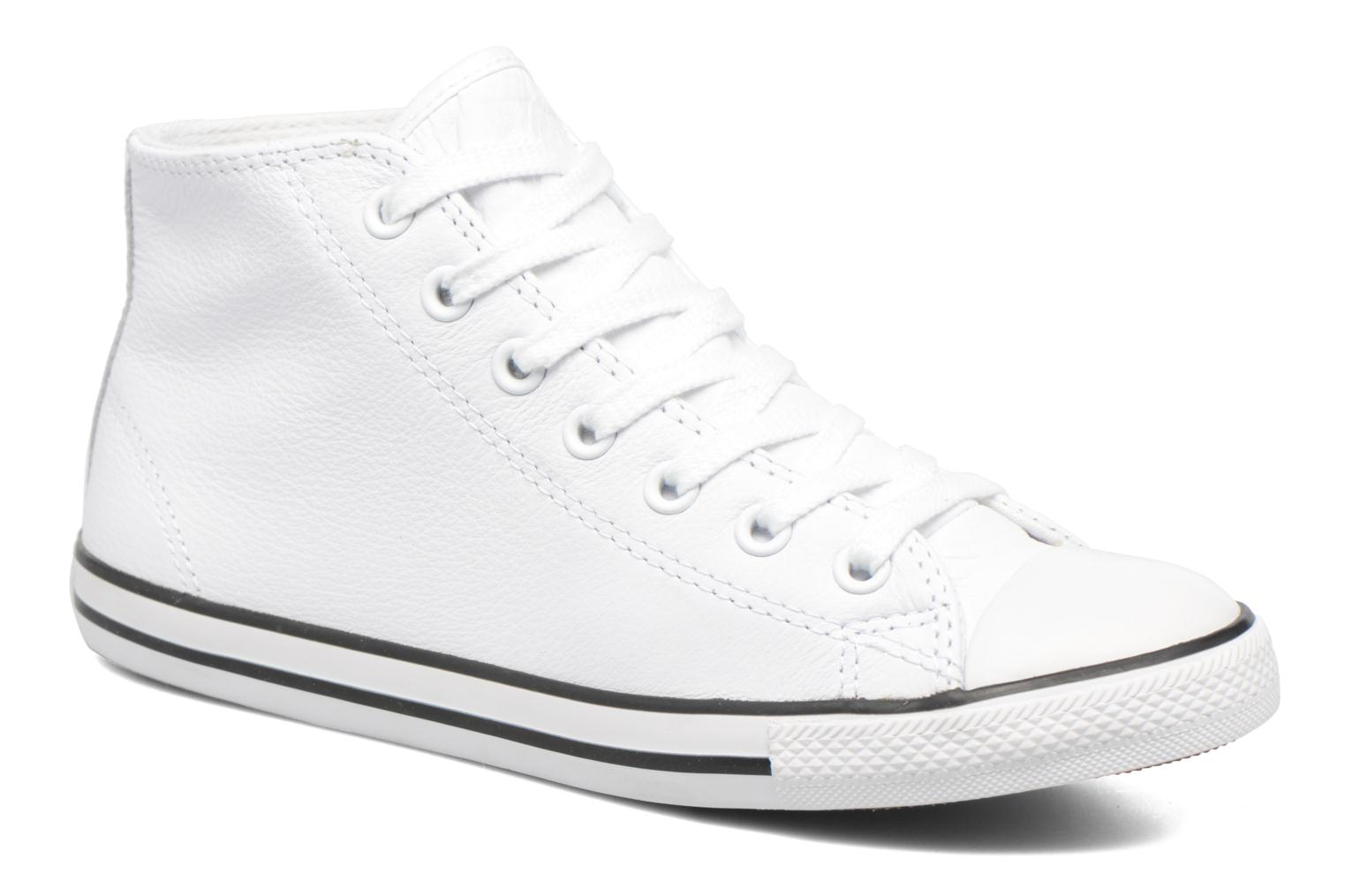 Baskets Converse All Star Dainty Mid W Blanc vue détail/paire