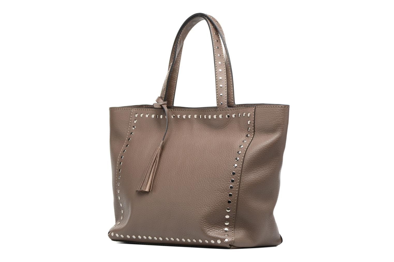 Handtaschen Loxwood CABAS PARISIEN M Clouté Cuir grainé braun schuhe getragen