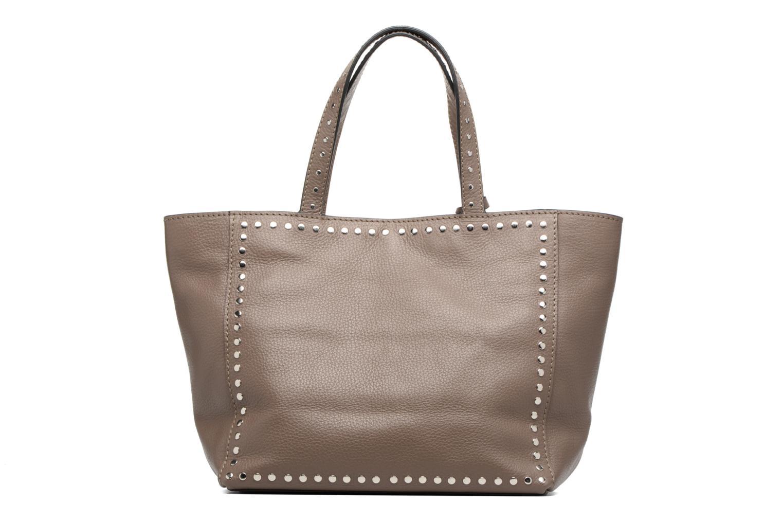 Handtaschen Loxwood CABAS PARISIEN M Clouté Cuir grainé braun ansicht von vorne