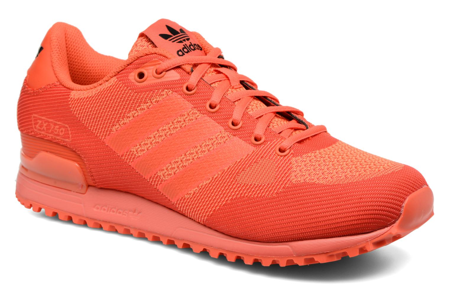 Trainers Adidas Originals Zx 750 Red detailed view/ Pair view