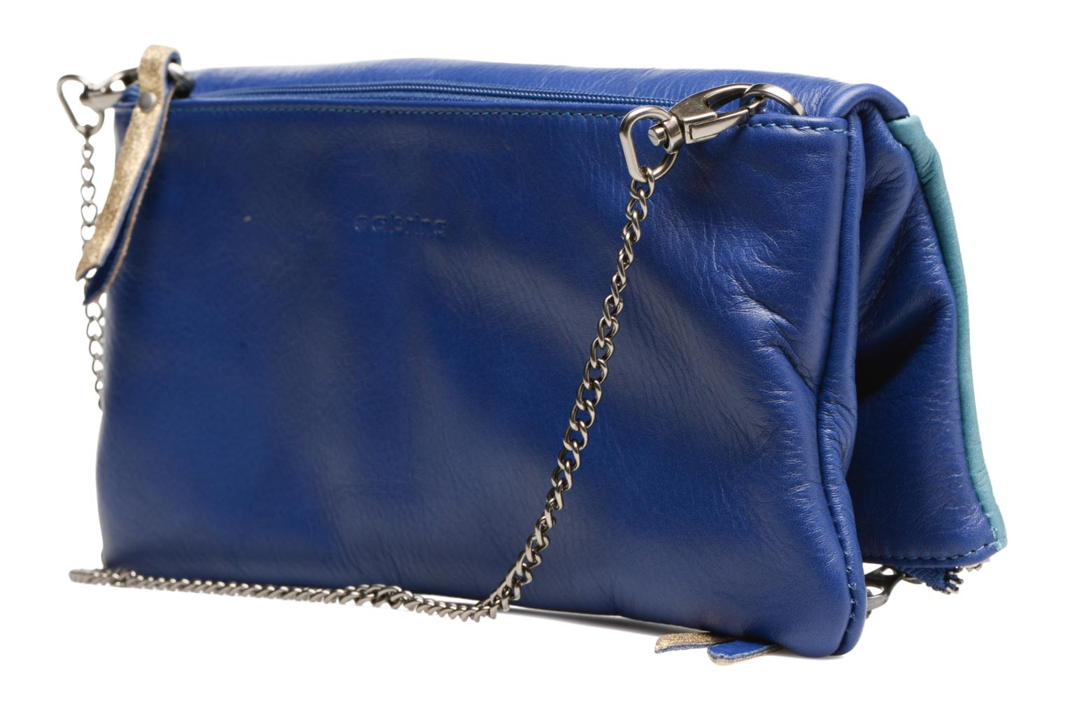 Handbags Sabrina Léonie Blue view from the right