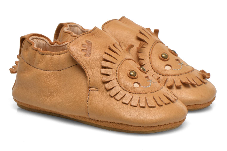 Chaussons Easy Peasy Blublu Lion Beige vue portées chaussures