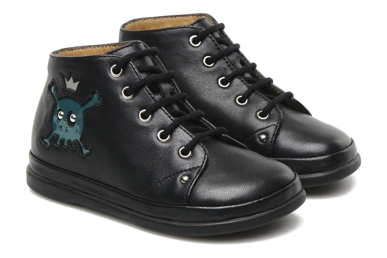 Bottines et boots Pom d Api Newflex Skull Noir vue 3/4