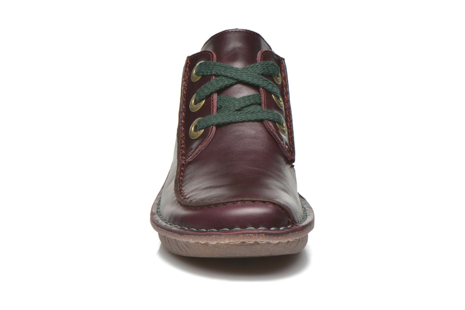 Lace-up shoes Clarks Funny Dream Burgundy model view