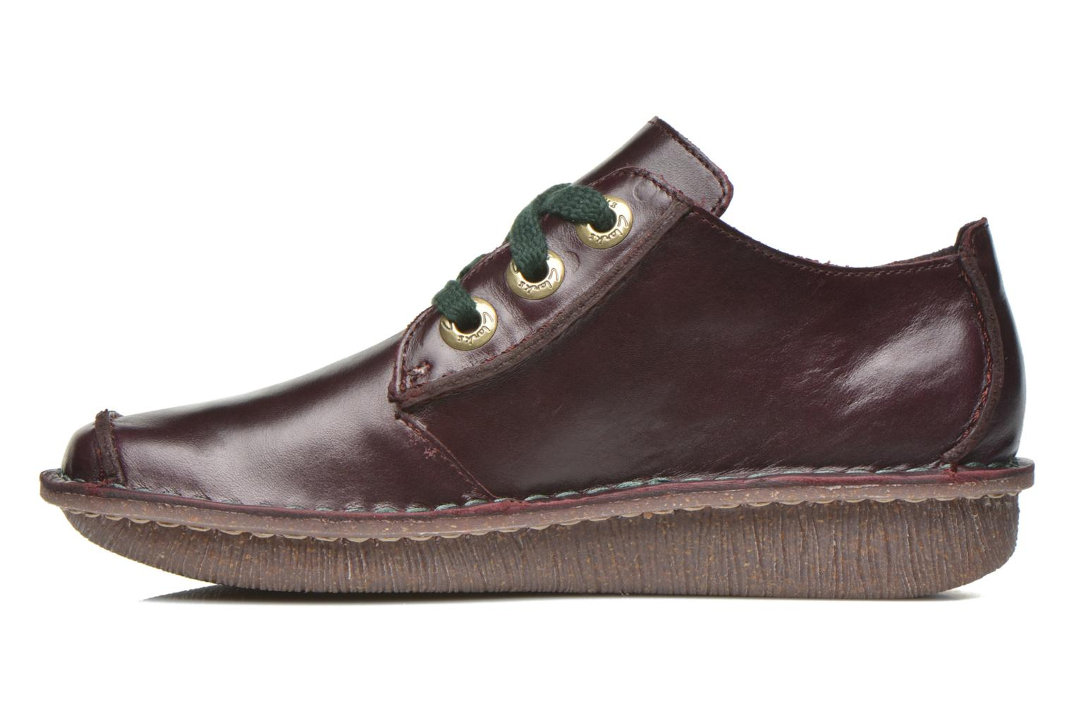 Lace-up shoes Clarks Funny Dream Burgundy front view