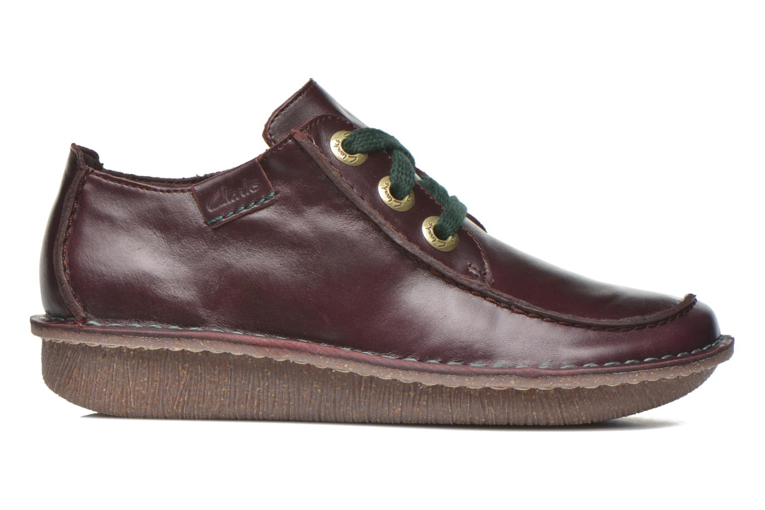 Lace-up shoes Clarks Funny Dream Burgundy back view