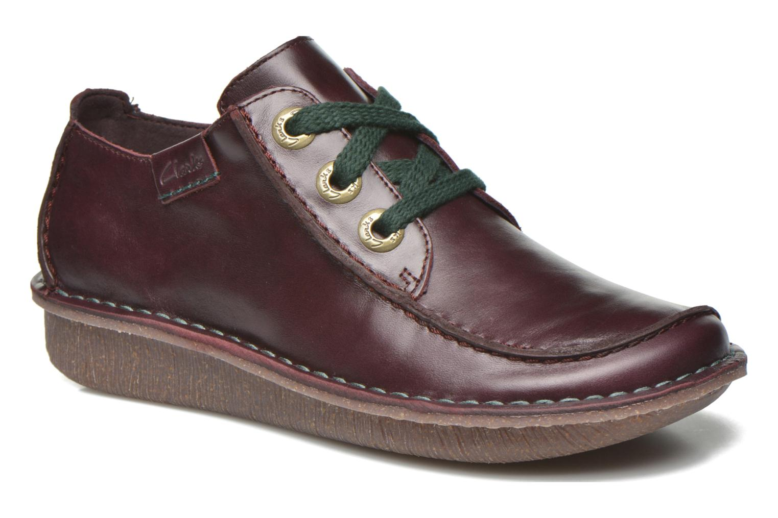 Lace-up shoes Clarks Funny Dream Burgundy detailed view/ Pair view