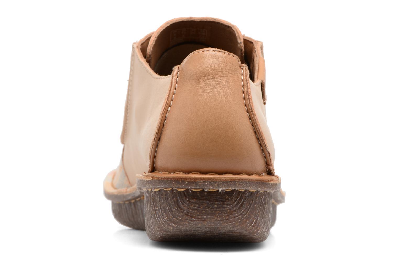 Zapatos con cordones Clarks Funny Dream Beige vista lateral derecha