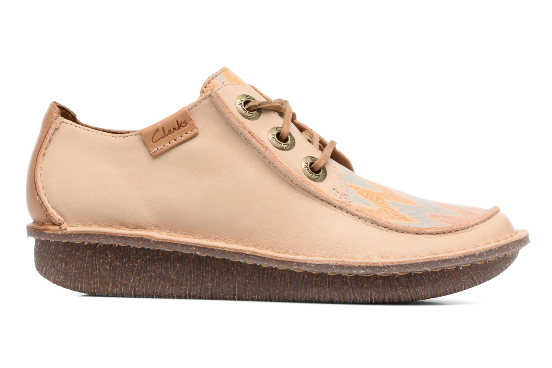 Zapatos con cordones Clarks Funny Dream Beige vistra trasera