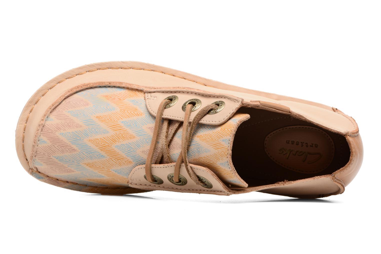 Zapatos con cordones Clarks Funny Dream Beige vista lateral izquierda