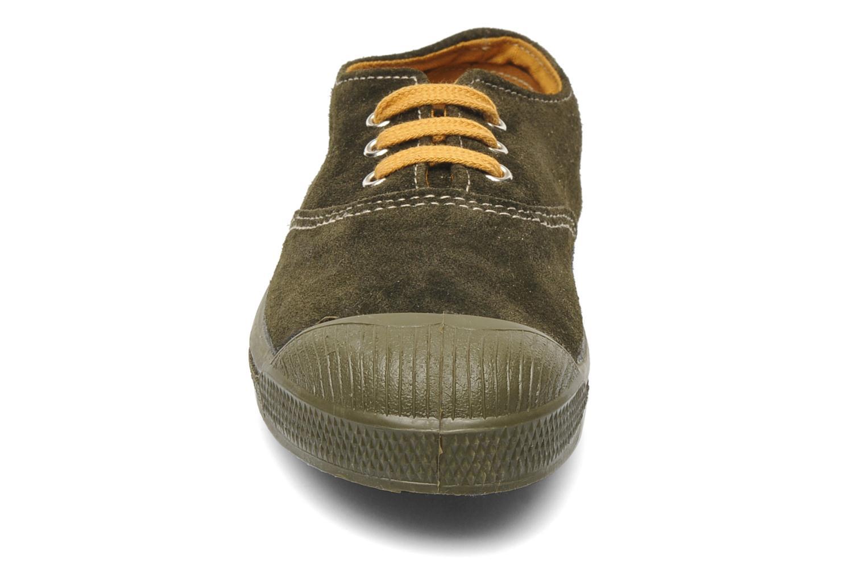 Baskets Bensimon Tennis Suedes Unies E Marron vue portées chaussures