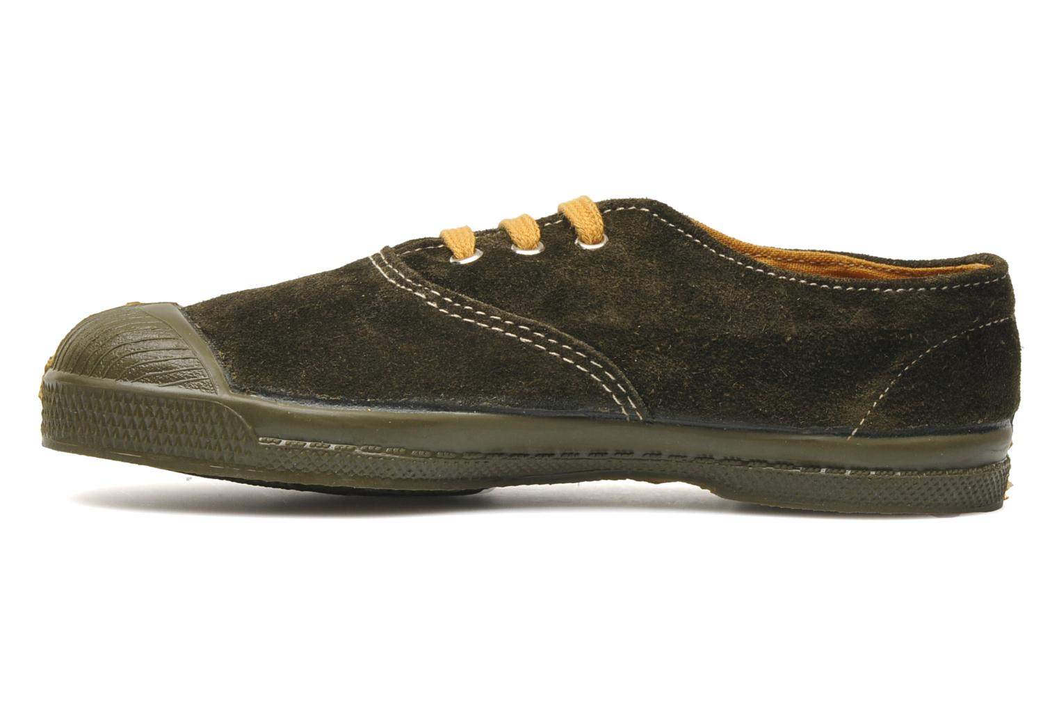 Trainers Bensimon Tennis Suedes Unies E Brown front view