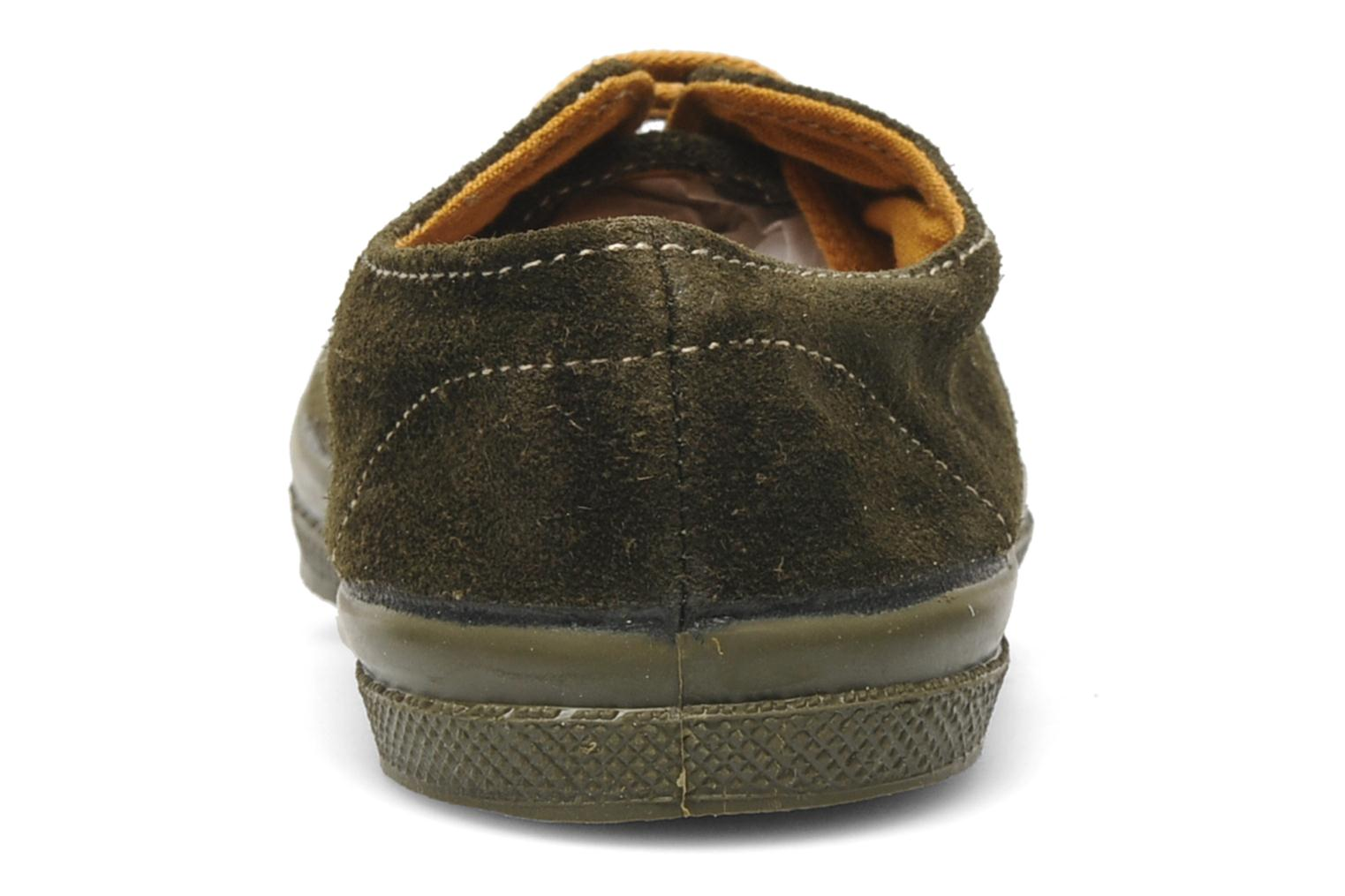 Trainers Bensimon Tennis Suedes Unies E Brown view from the right