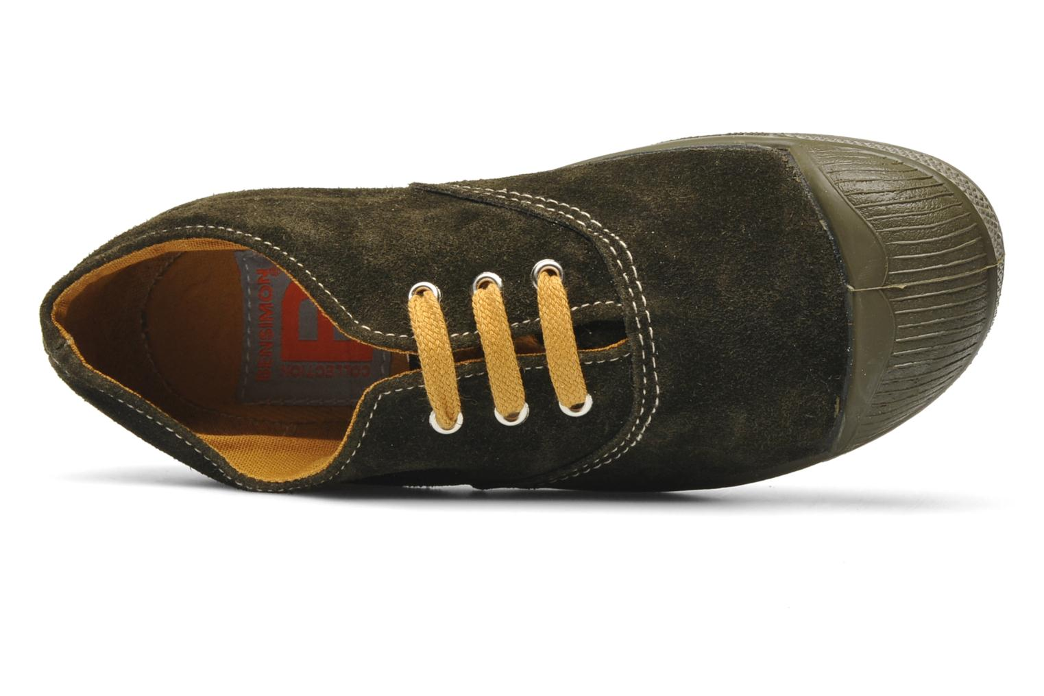 Trainers Bensimon Tennis Suedes Unies E Brown view from the left