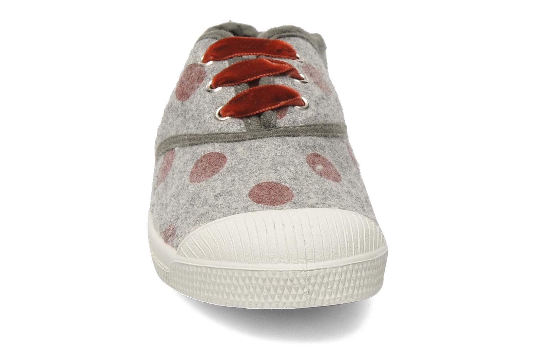 Sneaker Bensimon Tennis Flaneldots E grau schuhe getragen