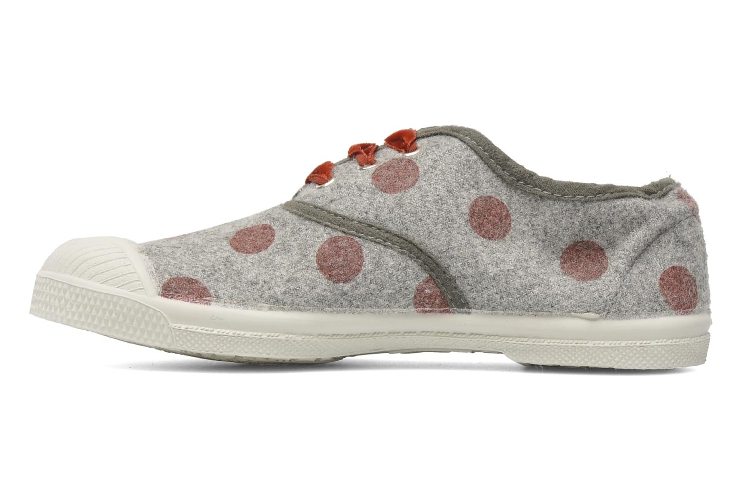 Baskets Bensimon Tennis Flaneldots E Gris vue face