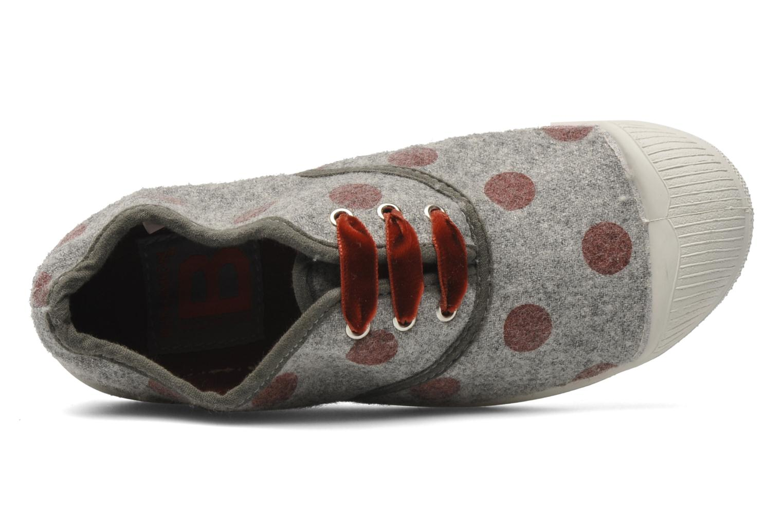 Sneaker Bensimon Tennis Flaneldots E grau ansicht von links