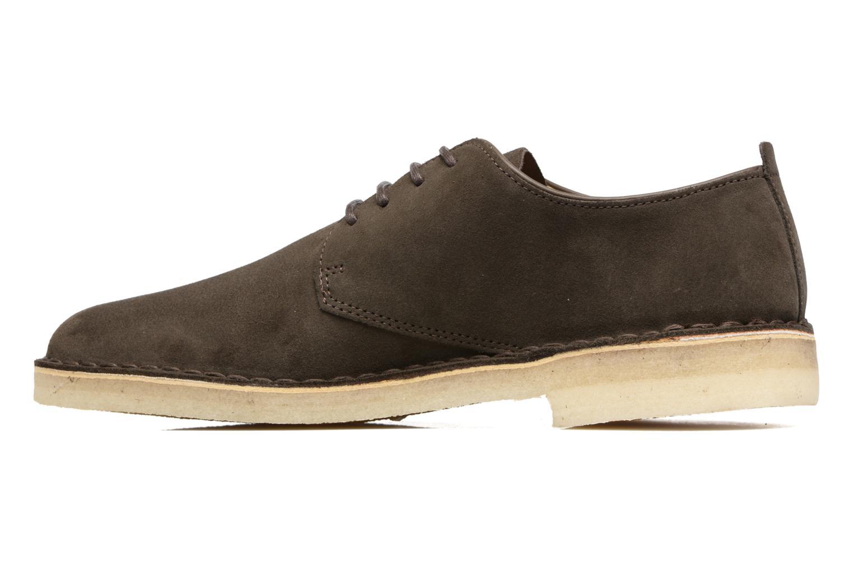 Chaussures à lacets Clarks Originals Desert London Gris vue face
