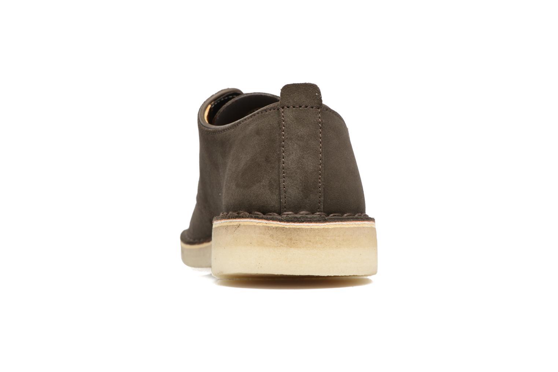 Chaussures à lacets Clarks Originals Desert London Gris vue droite