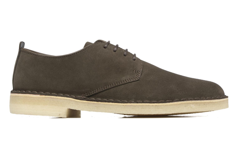Chaussures à lacets Clarks Originals Desert London Gris vue derrière