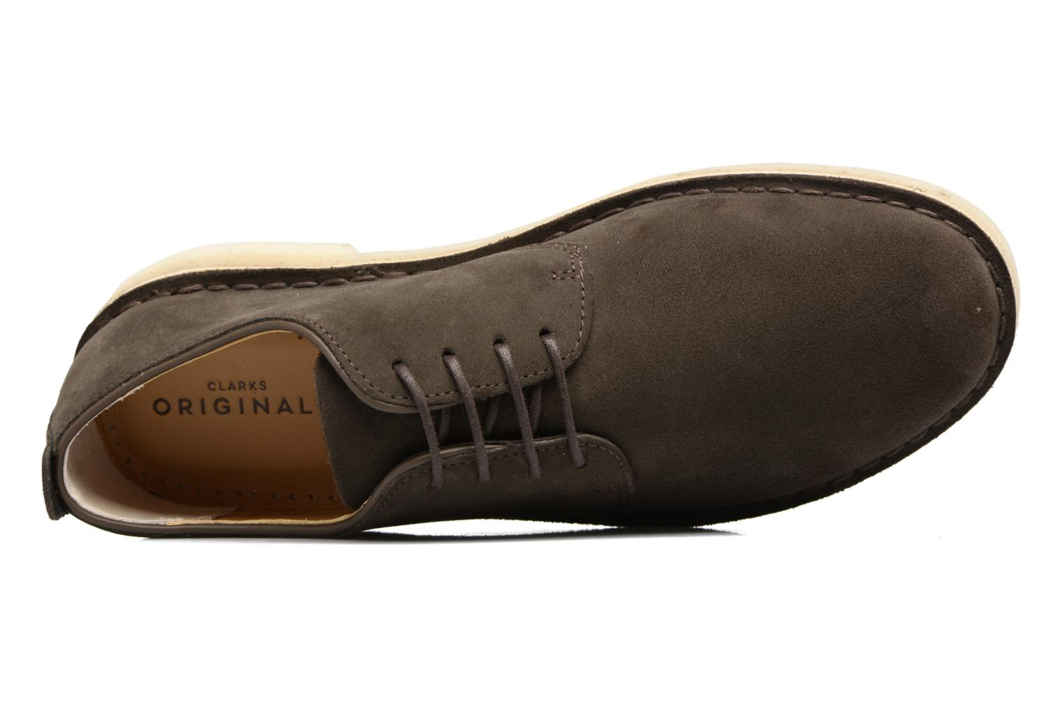 Veterschoenen Clarks Originals Desert London Grijs links