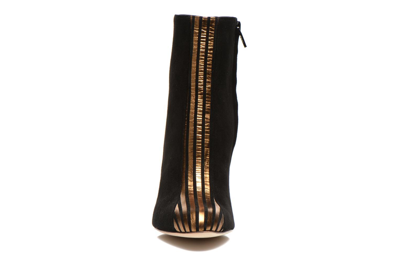 Titop Boot Velours Noir Rayé