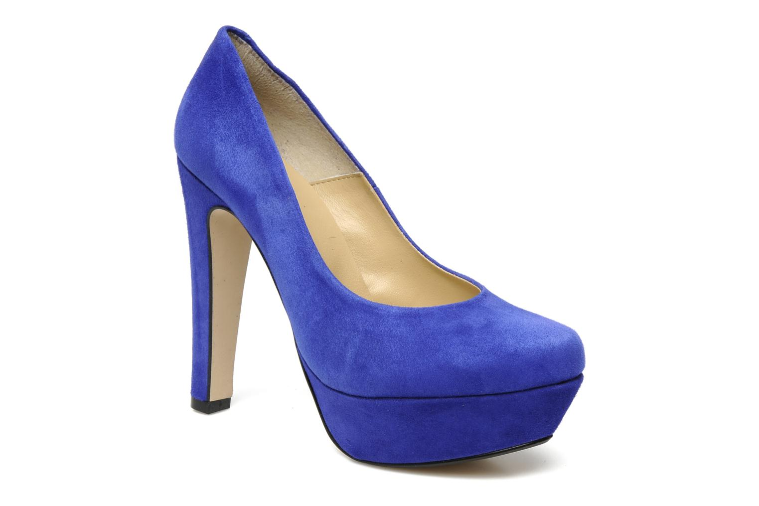 High heels Georgia Rose Vertige Blue detailed view/ Pair view
