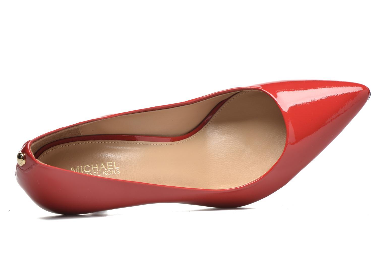 Zapatos de tacón Michael Michael Kors MK Flex Mid Pump W Rojo vista lateral izquierda