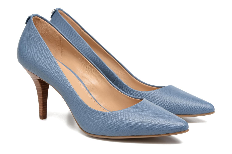 High heels Michael Michael Kors MK Flex Mid Pump W Blue 3/4 view
