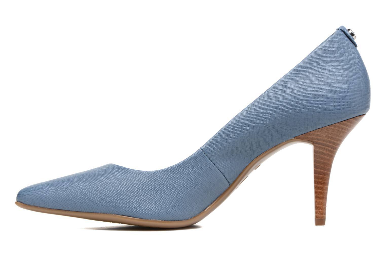 High heels Michael Michael Kors MK Flex Mid Pump W Blue front view
