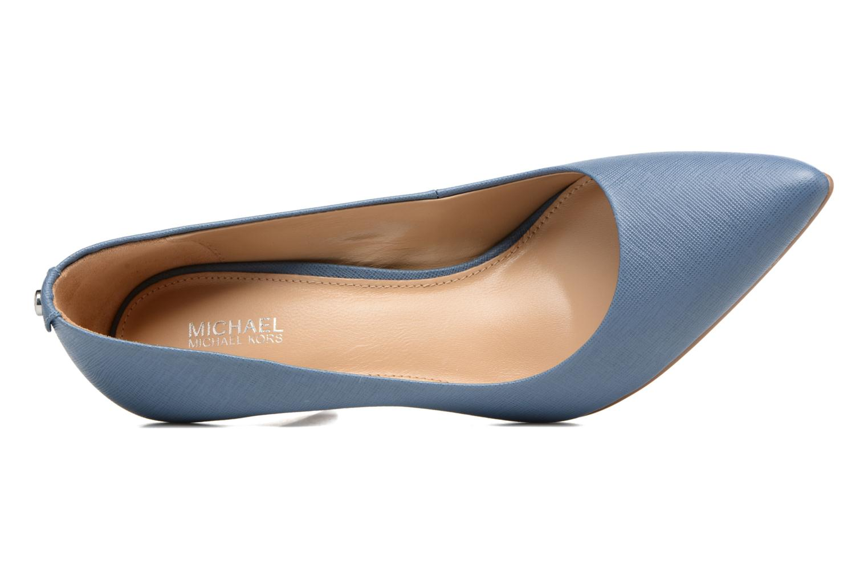 High heels Michael Michael Kors MK Flex Mid Pump W Blue view from the left