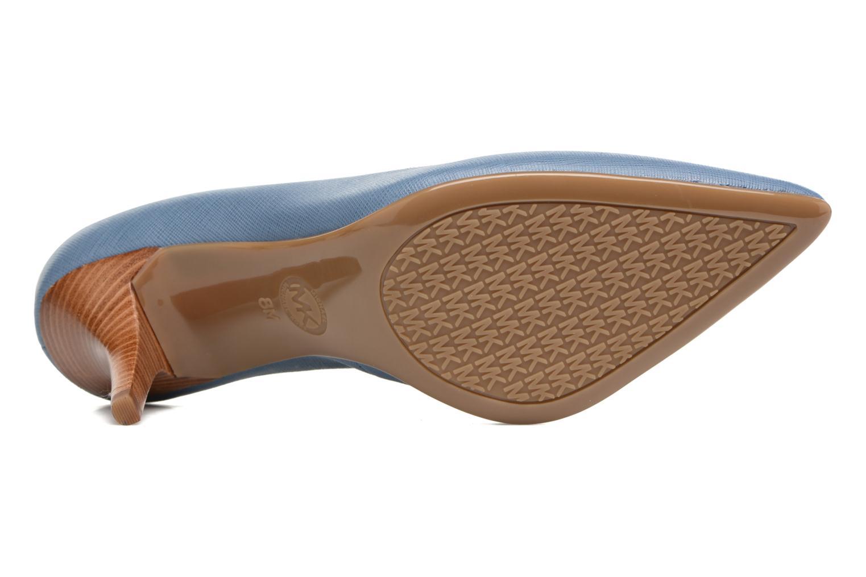 High heels Michael Michael Kors MK Flex Mid Pump W Blue view from above