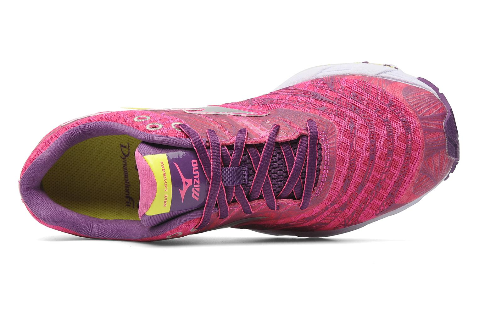 Sport shoes Mizuno Wave Sayonara Pink view from the left