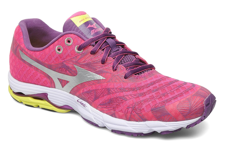 Sport shoes Mizuno Wave Sayonara Pink detailed view/ Pair view