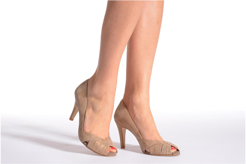 High heels Jonak Acide Black view from underneath / model view