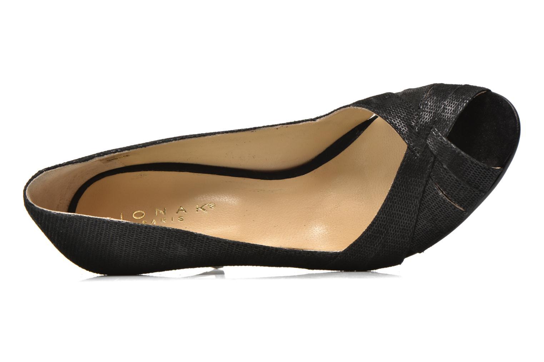 High heels Jonak Acide Black view from the left