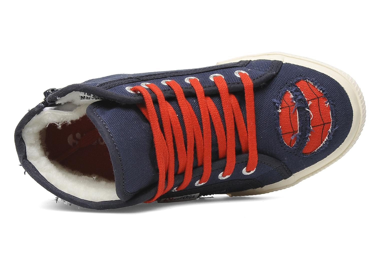 Baskets Superga 2095 Spiderman 2 COBJ Bleu vue gauche