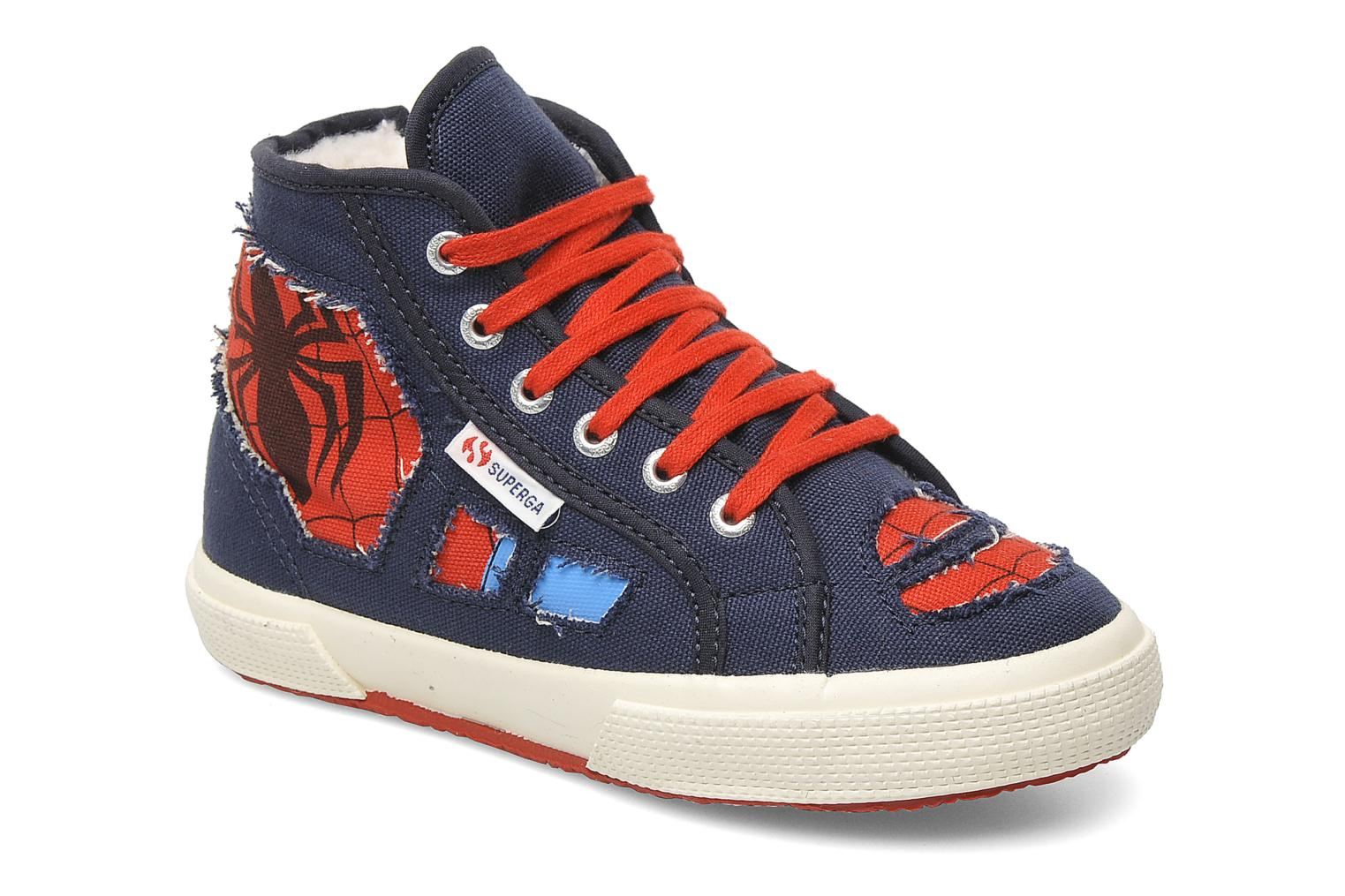 Trainers Superga 2095 Spiderman 2 COBJ Blue detailed view/ Pair view