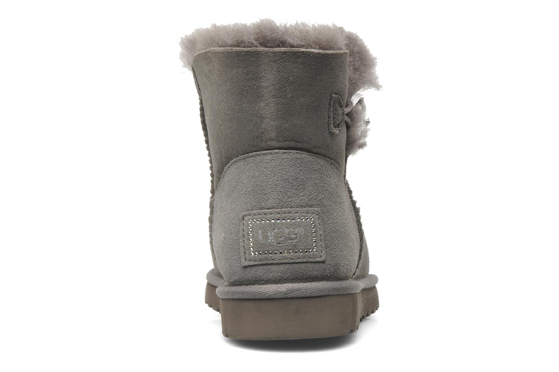 Bottines et boots UGG Mini Bailey Button Bling Gris vue droite