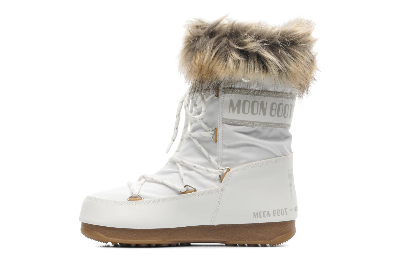 Bottines et boots Moon Boot Monaco Low Blanc vue face