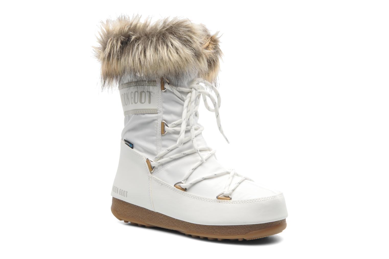 Bottines et boots Moon Boot Monaco Low Blanc vue détail/paire