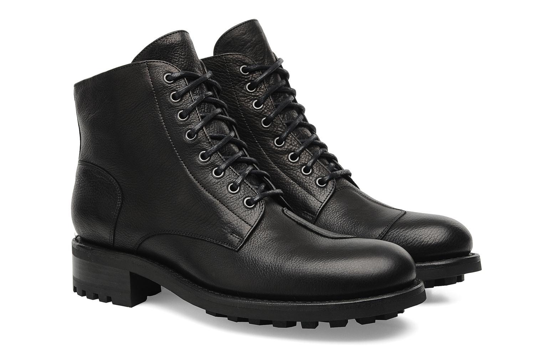 Bottines et boots Jean-Baptiste Rautureau Hyrod Lace Up Noir vue 3/4