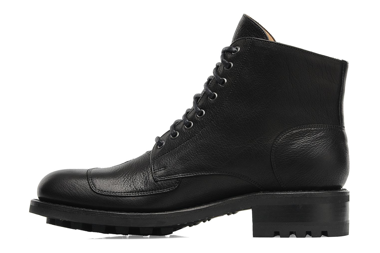 Bottines et boots Jean-Baptiste Rautureau Hyrod Lace Up Noir vue face