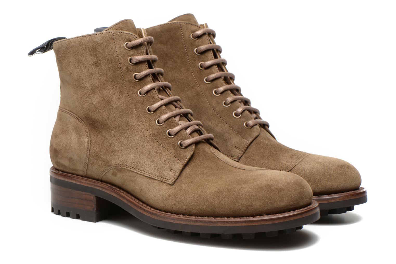 Bottines et boots Jean-Baptiste Rautureau Hyrod Lace Up Vert vue 3/4