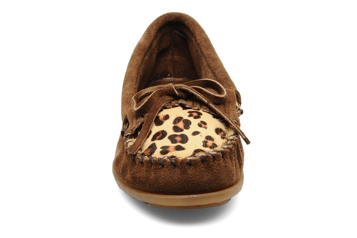 Leopard Kilty Moc DUSTY BROWN SUEDE