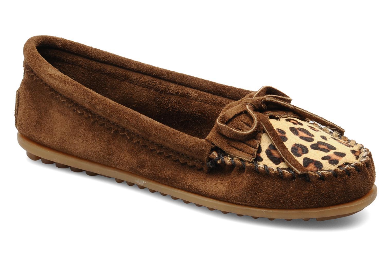 Leopard Kilty Moc DUSTY BROWN SUEDE