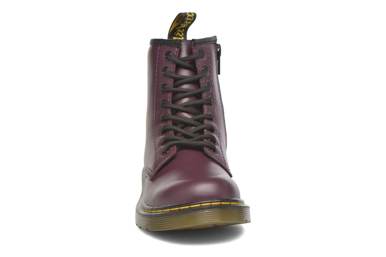 Bottines et boots Dr. Martens Juniors Delaney Lace boot Violet vue portées chaussures