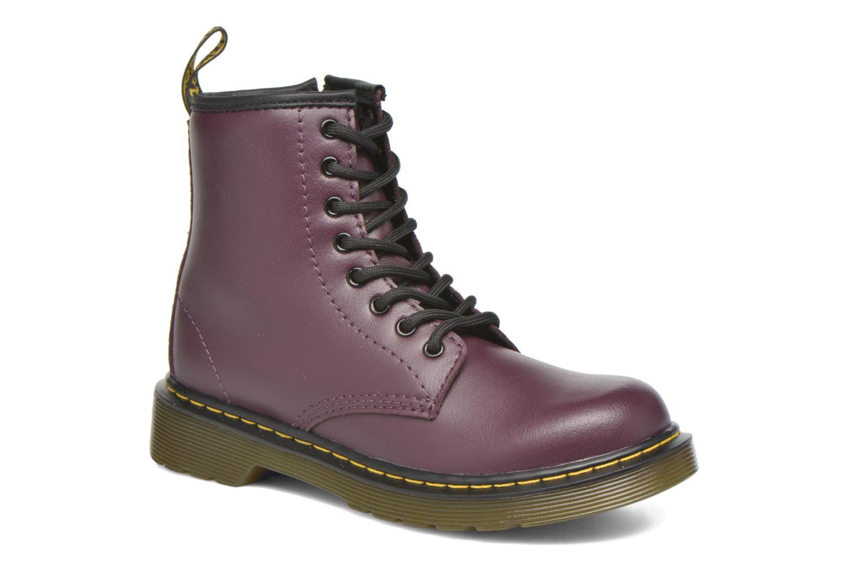Bottines et boots Dr. Martens Juniors Delaney Lace boot Violet vue détail/paire