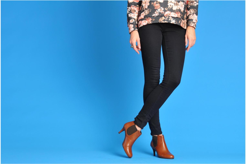 Bottines et boots Georgia Rose Leipoa Noir vue bas / vue portée sac